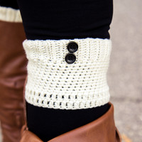 Two Button Boot Cuff - Ivory