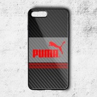 Best Puma Logo Red Stripe Case For iPhone 6 6s 7 8 Plus X Samsung Note Cover