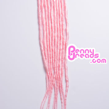 Baby Pink U-Tip Synthetic Dreadlocks (10 pieces)
