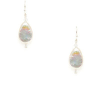 Freshwater Coin Pearl & Crystal Earrings by Margo Morrison