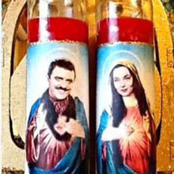 Gomez & Morticia Candle Set