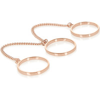 Eddie Borgo - Rose gold-plated three-finger ring