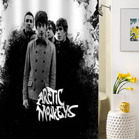 arctic monkeys classic shower curtain special custom shower curtains that will make your bathroom adorable