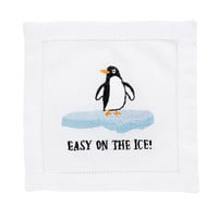 Comical Embroidered Cocktail Napkins