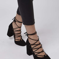 GOLD Round Toe Ghillie Shoes - Topshop