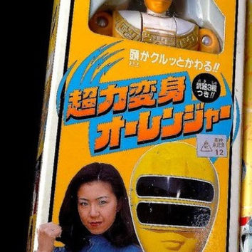 """Bandai 1995 Power Rangers Zeo Ohranger Yellow Fighter 5"""" Trading Action Figure"""
