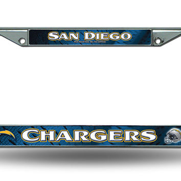 NFL San Diego Chargers Chrome License Plate Frame