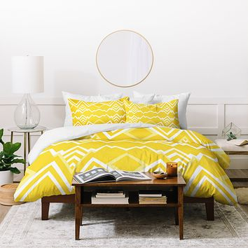 Elisabeth Fredriksson Wicked Valley Pattern Yellow Duvet Cover