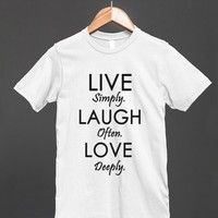 live laugh love reg tee - glamfoxx.com - Skreened T-shirts, Organic Shirts, Hoodies, Kids Tees, Baby One-Pieces and Tote Bags