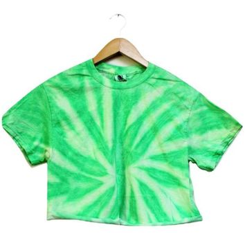 NEON COLLECTION: Mint Tie-Dye Cropped Tee