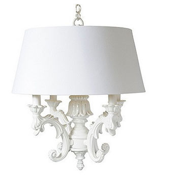 Barbara Cosgrove Chandelier with Large Shade