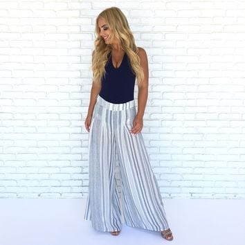 Celeste Wide Leg Stripe Pants