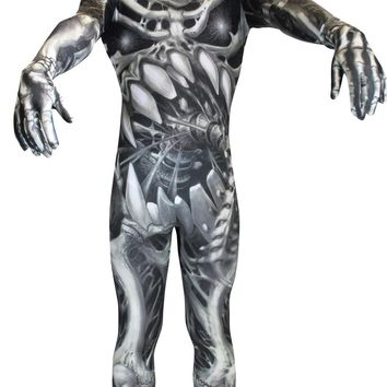 Mighty Morphin power rangers Skull N Bones Adult Xl Costume