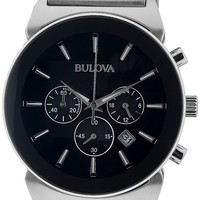 Bulova Men's 96B203 Analog Display Japanese Quartz Silver Watch