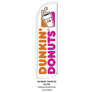 Dunkin Donuts Windless Swooper Feather Flags