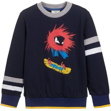 Fendi Boys Monster 'Bad Bug' Sweater