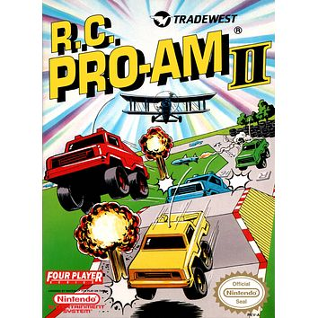 Retro R.C. Pro Am 2 Game Poster//NES Game Poster//Video Game Poster//Vintage Game Reprint