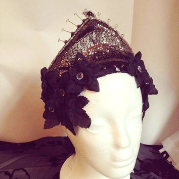 Goth Couture 'Dark Princess' Small Kokoshnik Headdress