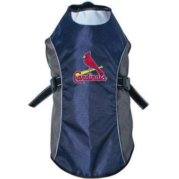 DCCKT9W St. Louis Cardinals Water Resistant Reflective Pet Jacket