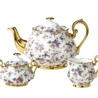 Royal Albert 100 Years of Royal Albert Tea Set, English Chintz, 3-Piece