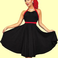 Steady Black & Red Melanie Dress
