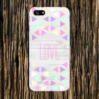 Pastel Triangles x Love Design Case for iPhone 6 6 Plus iPhone 5 5s 5c iPhone 4 4s Samsung Galaxy s5 s4 & s3 and Note 4 3 2