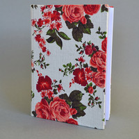 Writing Journal /  Handmade Sketchbook / Handmade Journal / Unique Journal /  Notebook /  Diary /  A5. 8 x 6 inch from linen Roses