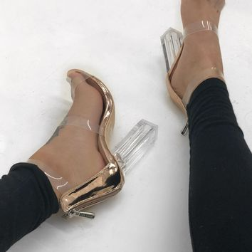 Reem Heels - Rose Gold