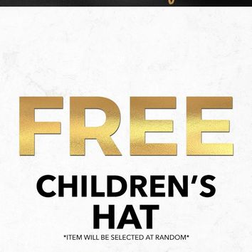 Black Friday 2018 Free Children's Hat Gift With Purchase