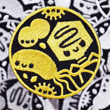 Microbiology patch, science patch, biology patch, iron on patch, cute patch, science gift, biology gift, science stocking stuffer, virus