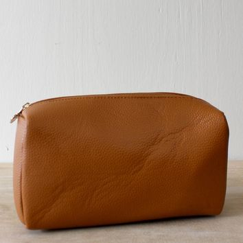 Tatum Cosmetic Bag - Saddle