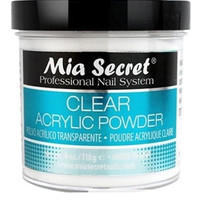 Mia Secret Professional Acrylic Nail System Clear Acrylic Powder 4 oz