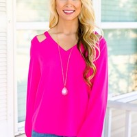 On Occasion Blouse- Hot Pink - NEW ARRIVALS