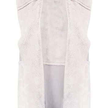 Georgia Faux Fur Trim Gilet | Boohoo