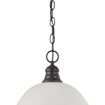 Hanging Pendant Light Fixture in Mahogany Bronze Finish
