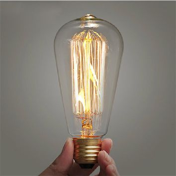Retro lamp ST64 Vintage Edison bulb E27 Incandescent bulb 110v 220v Holiday lights 40w 60w Filament lamp Lampada for home decor