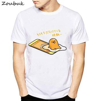 Japanese Harajuku Cute Gudetama Lazy Egg Yolk funny t shirt men fashion Kawaii cartoon print tshirt novelty male t-shirt tops