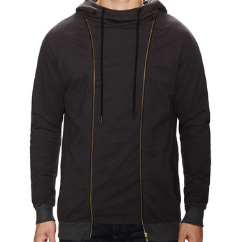 Vienna Hooded Sweatshirt with Zip Front