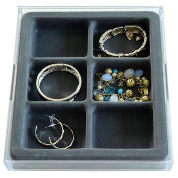 Stack 'em Jewelry Organizer Box Bangle and Hoop Earring Drawer Jewelry Tray