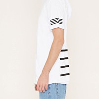Hooded Stripe Tee | 21 MEN - 2000170509