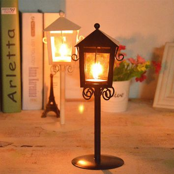 Candlestick Stand White Black Candle Holder Decorating Home Desktop Light