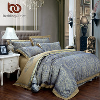 Markdown Sale Dark Gray Bedding Tribute Silk Home Textiles New Year Gifts Comforter Set Home 4Pcs Queen King