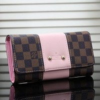 Louis Vuitton LV   Women  Leather Buckle Wallet Purse