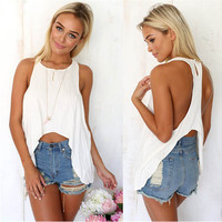 New Fashion  Sexy Woman Cotton  Cropped Top Free Shipping