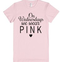 On Wednesdays We Wear Pink Fitted T-shirt (styleno.9 Black