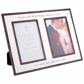 "The Best Thing To Hold Onto, Double 5""x 7"" Copper & Glass Photo Frame"