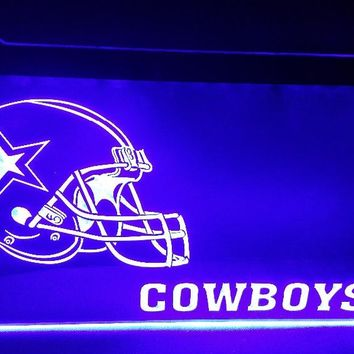 b-163 Dallas Cowboys Helmet beer bar pub club 3d signs LED Neon Light Sign man cave
