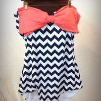 Chevron plus size swimsuit.