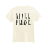 I-585 - Niall Please. - Niall Horan - 1D - One Direction - Printed T-Shirt - by HeartOnMyFingers
