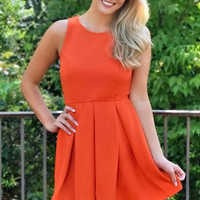 Perfect Gameplan Fit and Flare Dress - Orange